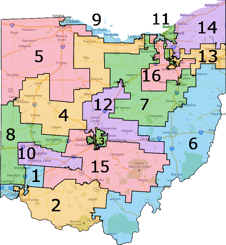 Ohio Voters Reject Partisan Approach To Elections | Charlie ... on house of representatives florida map, house of representatives current makeup, house of representatives apportionment map, house of representatives map 2014,