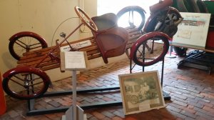 1920s-era Briggs and Stratton Flyer vehicle on display in the Wayne County Museum (Richmond, Ind.)