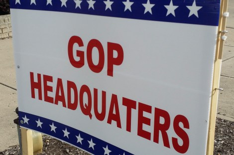 Although they spelled the lesser used word deplorable correctly, the local GOP struggled with the word they spell every election cycle -- Headquarters.